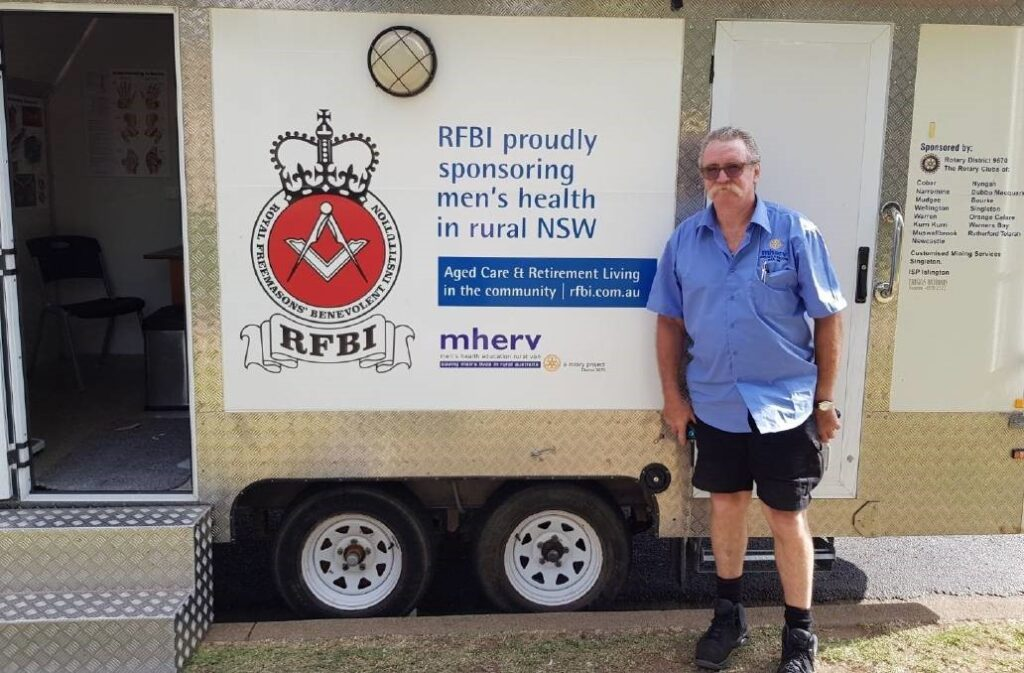 mherv - Men's Health Education Rural Van - The Rutherford Telarah Rotary Club
